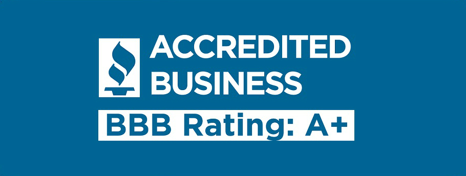 We are proudly accredited by the the Better Business Bureau